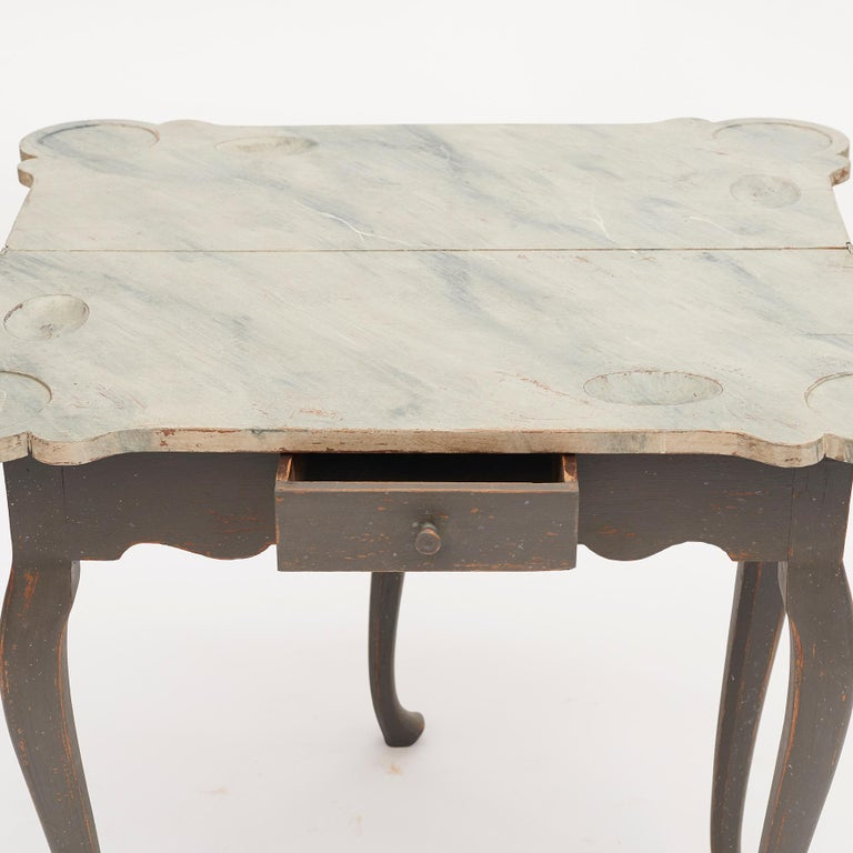 Danish 18th Century Rococo Console and Gaming Table For Sale 7