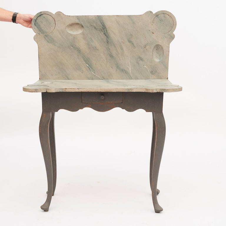 Danish 18th Century Rococo Console and Gaming Table For Sale 9