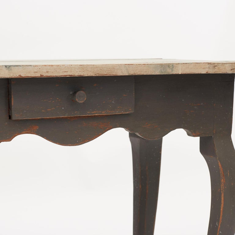 Danish 18th Century Rococo Console and Gaming Table For Sale 13