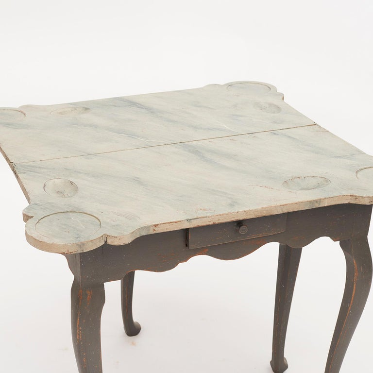 Danish 18th Century Rococo Console and Gaming Table For Sale 14