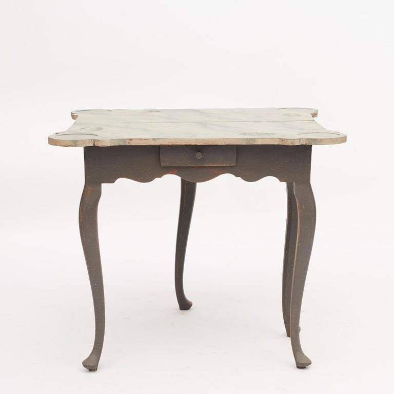 Oak Danish 18th Century Rococo Console and Gaming Table For Sale
