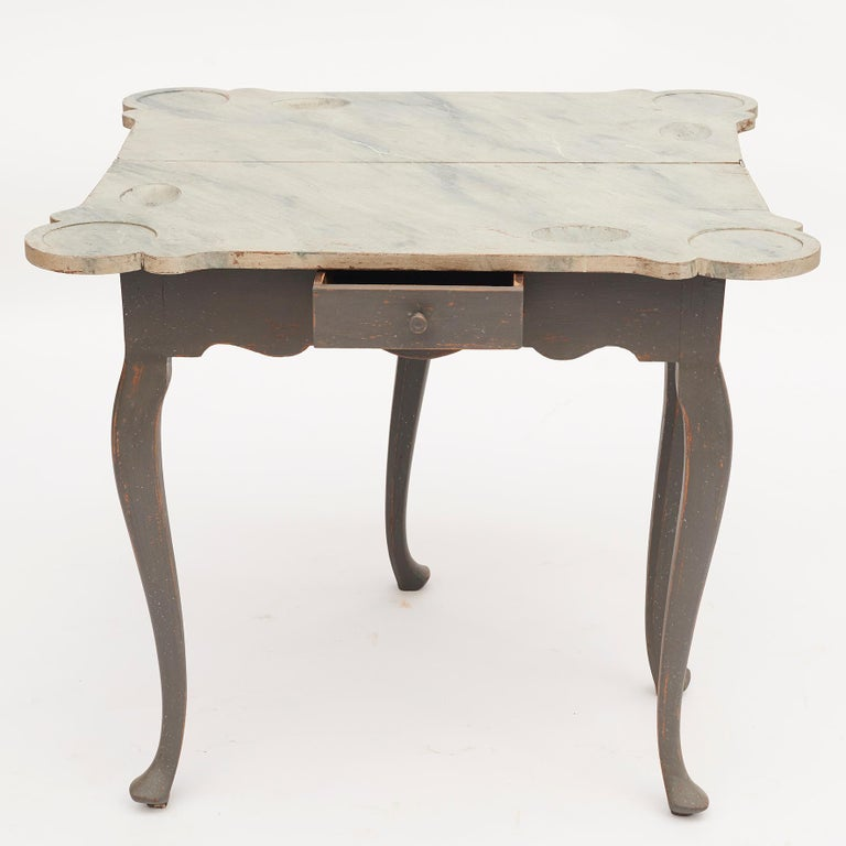 Danish 18th Century Rococo Console and Gaming Table For Sale 1