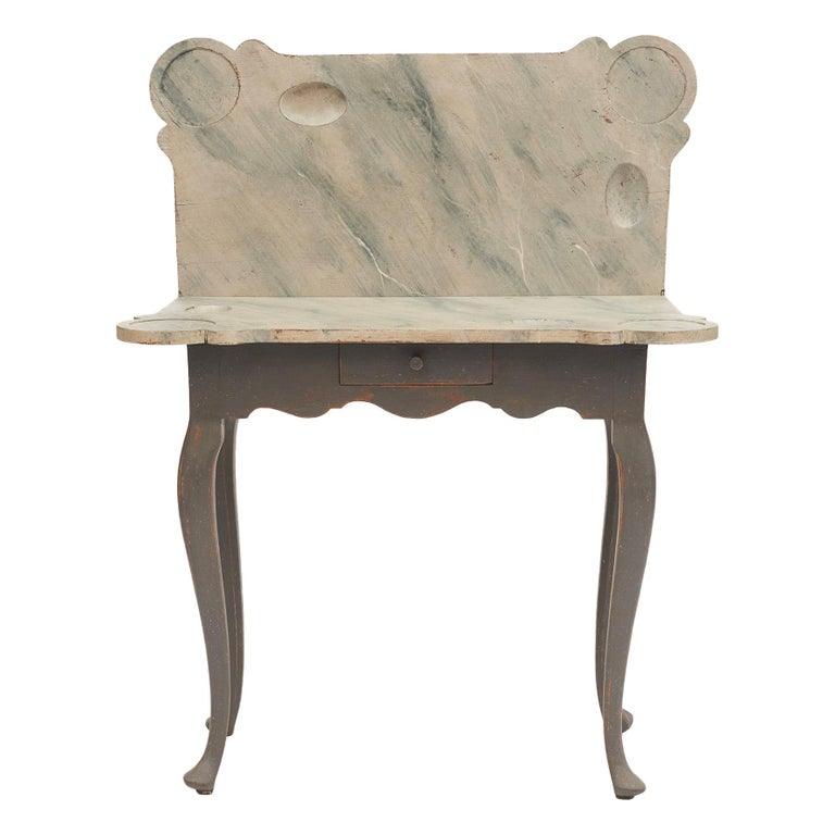 Danish 18th Century Rococo Console and Gaming Table For Sale