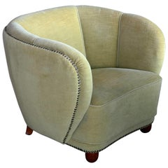Danish 1930s Club or Lounge Chair in the Style of Viggo Boesen