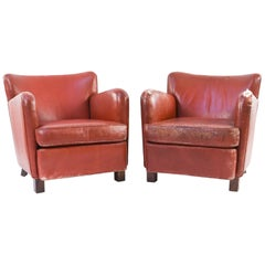 Danish 1940s Mogens Lassen Style Pair of Chairs