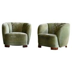 Wood Club Chairs
