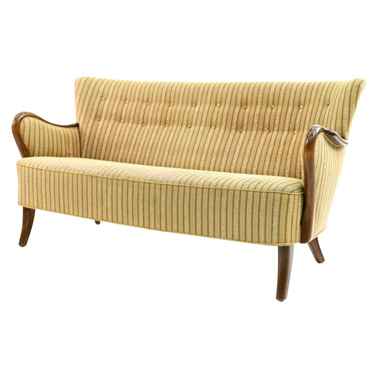 Danish 1940s Sofa by Alfred Christensen for Slagelse