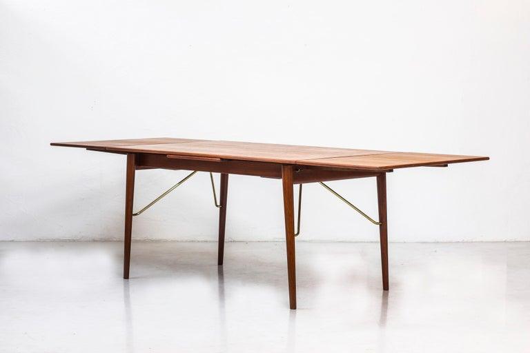 Scandinavian Modern Danish, 1950s Extendable Table by Peter Hvidt & Orla Mølgaard