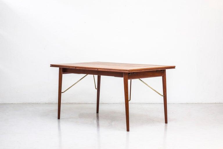 Brass Danish, 1950s Extendable Table by Peter Hvidt & Orla Mølgaard