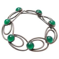 Danish 1950s Silver Bracelet by Nils Erik From