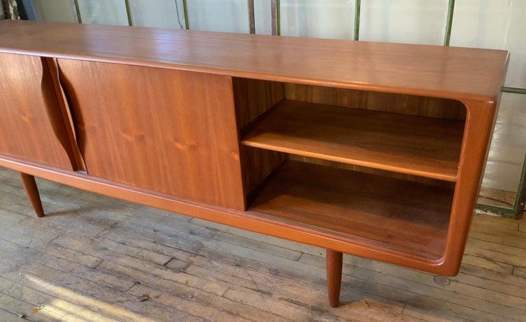 Mid-20th Century Danish 1950s Teak Credenza Cabinet For Sale