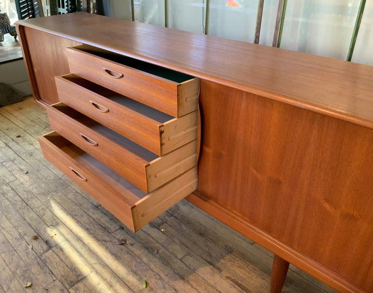 Danish 1950s Teak Credenza Cabinet For Sale 1