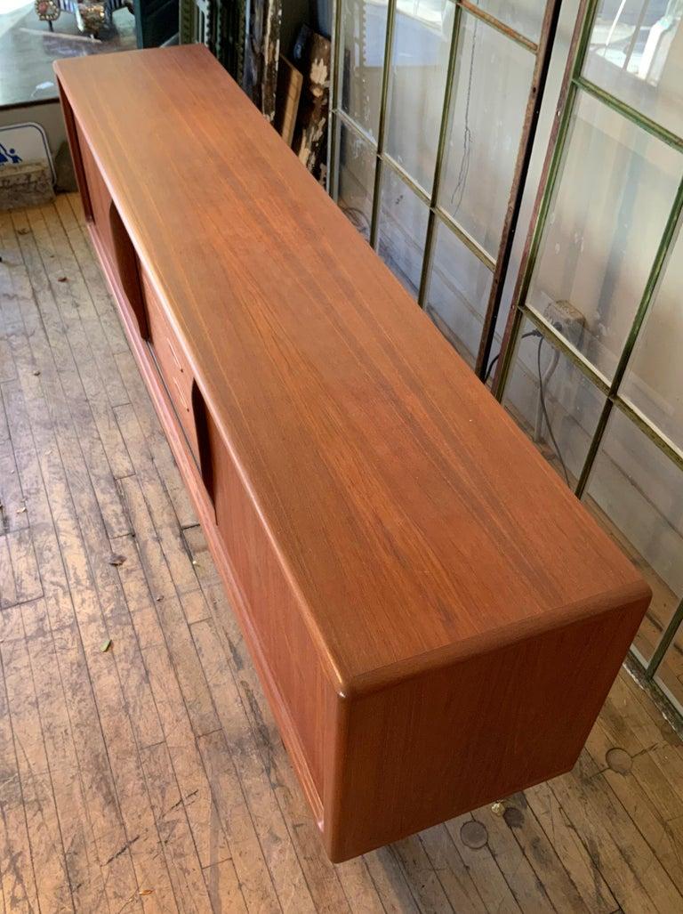 Danish 1950s Teak Credenza Cabinet For Sale 3