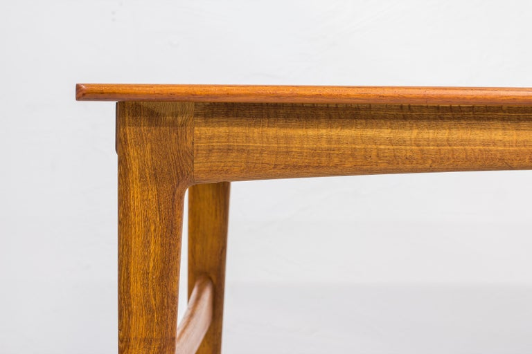 Danish 1950s Teak Dining Table by Knud Andersen For Sale 2