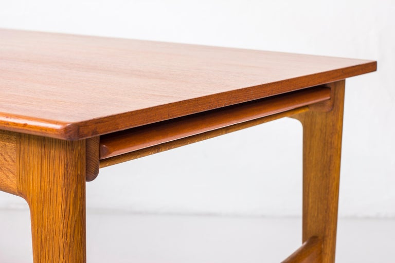 Danish 1950s Teak Dining Table by Knud Andersen For Sale 3