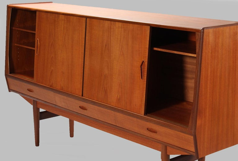 Danish 1960s Sideboard In Teak With Integrated Bar Section