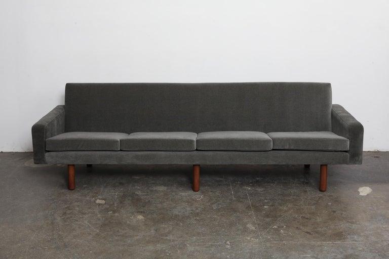 Danish 1960s 4-Seat Loose Cushion Sofa with Solid Teak Legs 2