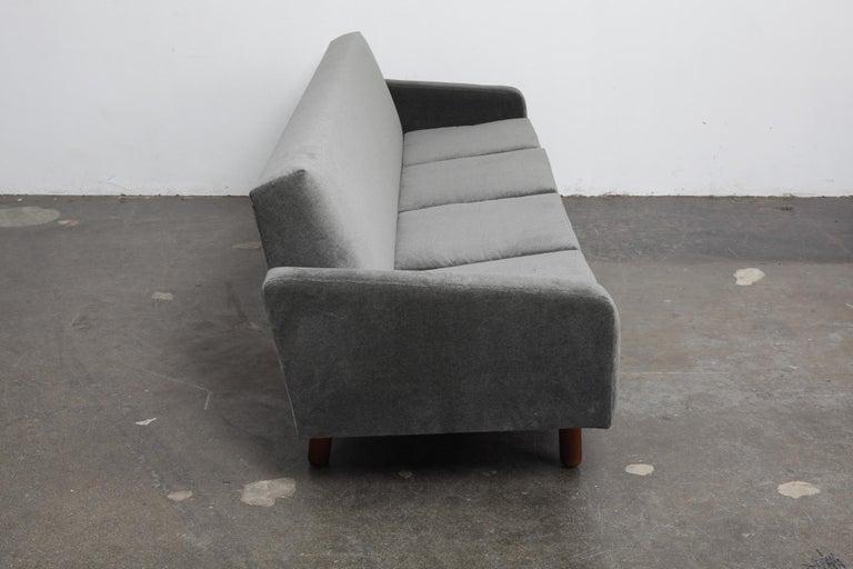 Danish 1960s 4-Seat Loose Cushion Sofa with Solid Teak Legs 3