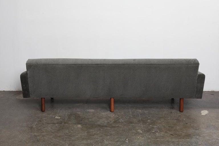 Danish 1960s 4-Seat Loose Cushion Sofa with Solid Teak Legs 5