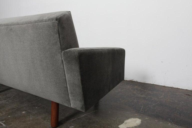 Mid-20th Century Danish 1960s 4-Seat Loose Cushion Sofa with Solid Teak Legs