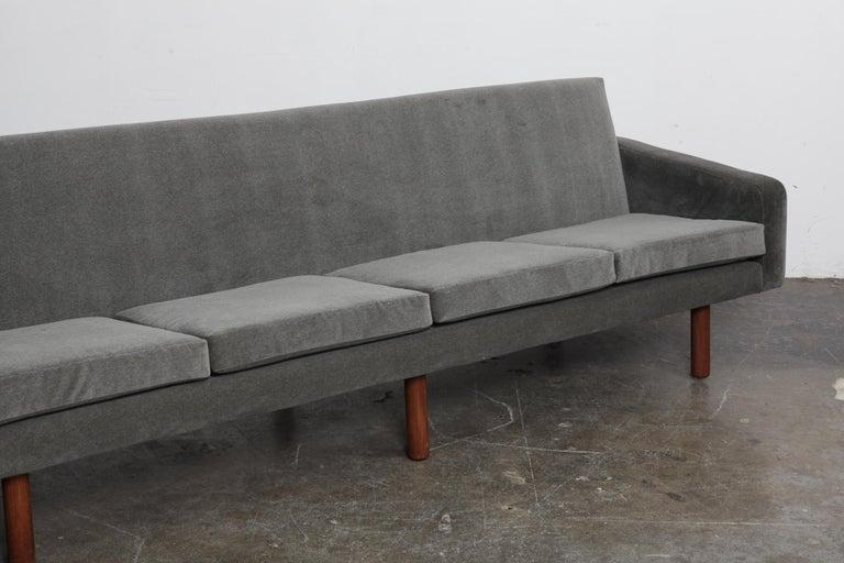 Danish 1960s 4-Seat Loose Cushion Sofa with Solid Teak Legs 7