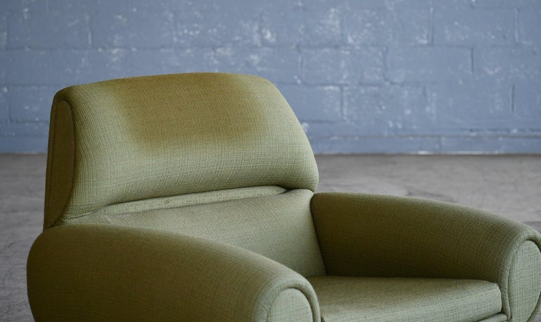 Mid-20th Century Danish 1960s Atomic Age Lounge Chairs by Kurt Ostervig Midcentury  For Sale