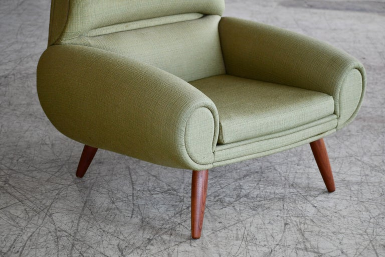 Wool Danish 1960s Atomic Age Lounge Chairs by Kurt Ostervig Midcentury  For Sale