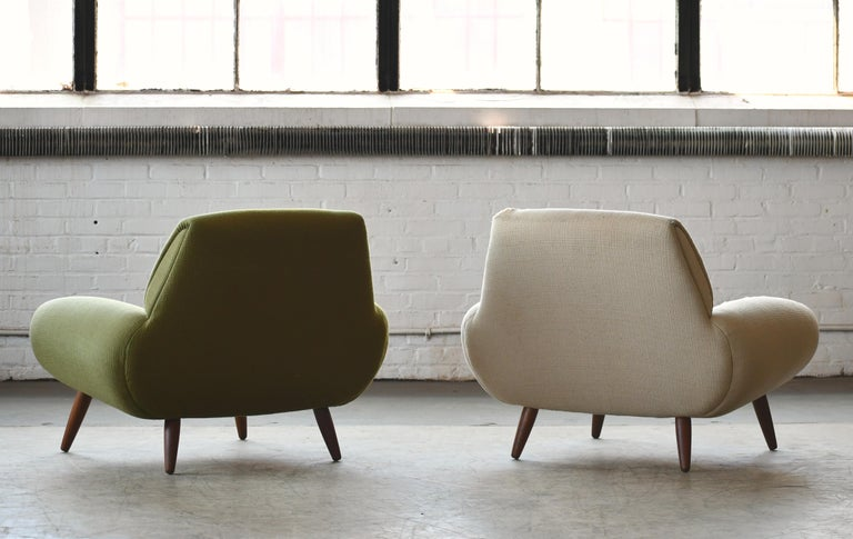 Danish 1960s Atomic Age Lounge Chairs by Kurt Ostervig Midcentury  For Sale 3