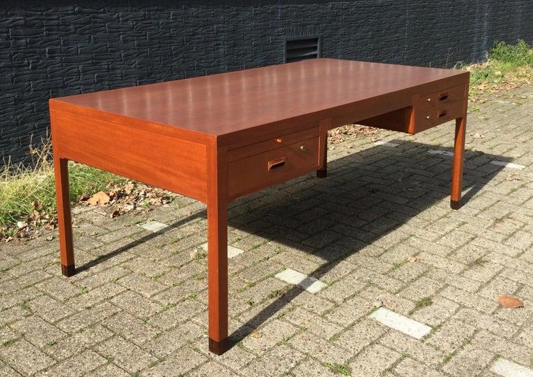 Mahogany Beautiful Danish Desk by Aksel Bender Madsen & Ejner Larsen, Denmark 1960's  For Sale