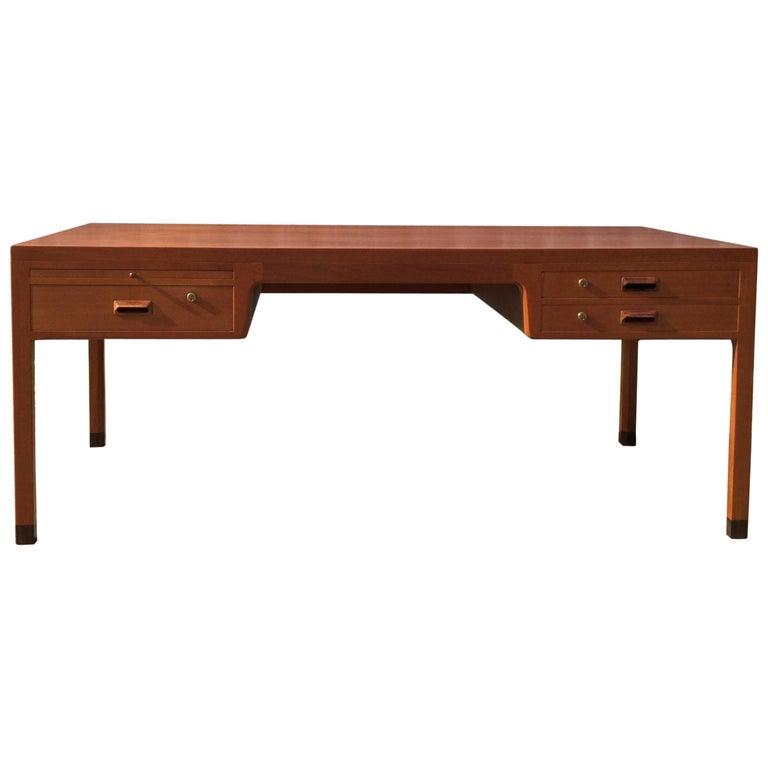 Beautiful Danish Desk by Aksel Bender Madsen & Ejner Larsen, Denmark 1960's  For Sale