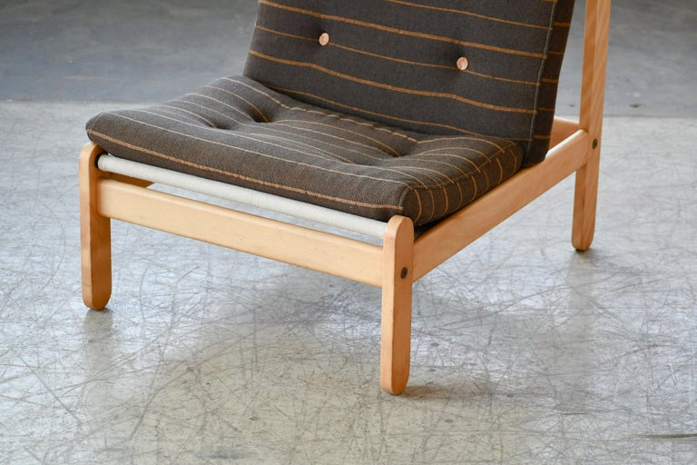 Mid-Century Modern Danish 1960s Rag Chair in Oak by Bernt Petersen for Chiang For Sale