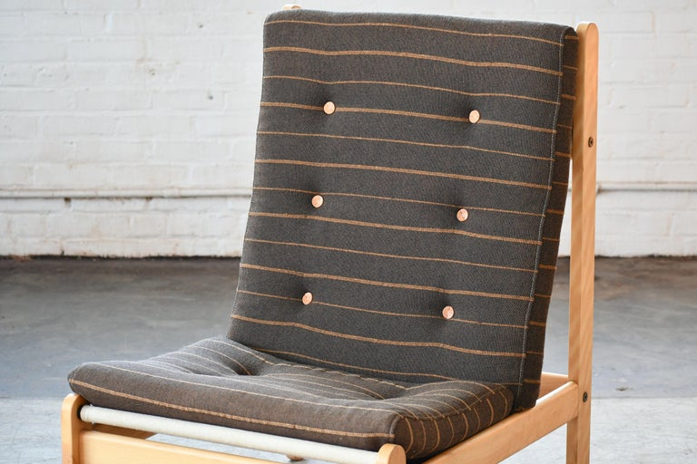 Danish 1960s Rag Chair in Oak by Bernt Petersen for Chiang In Good Condition For Sale In Bridgeport, CT