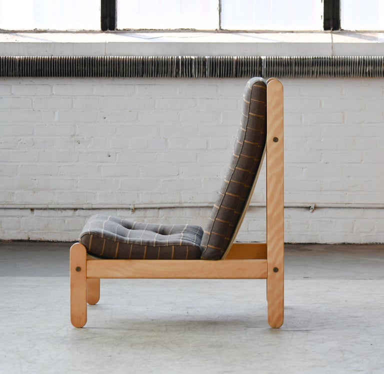 Mid-20th Century Danish 1960s Rag Chair in Oak by Bernt Petersen for Chiang For Sale