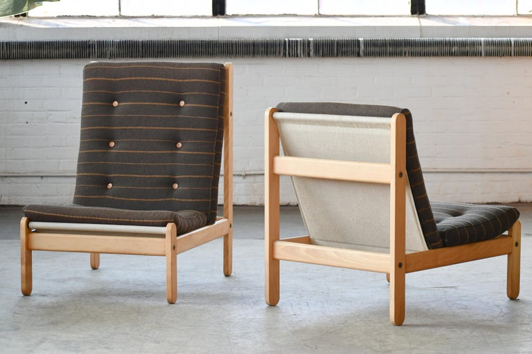 Danish 1960s Rag Chair in Oak by Bernt Petersen for Chiang For Sale 2