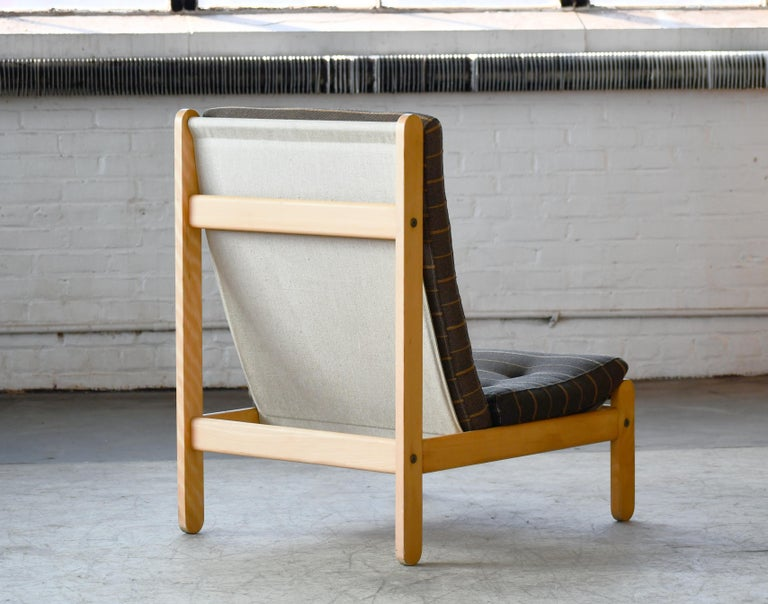 Danish 1960s Rag Chair in Oak by Bernt Petersen for Chiang For Sale 3