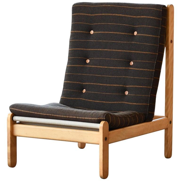 Danish 1960s Rag Chair in Oak by Bernt Petersen for Chiang For Sale