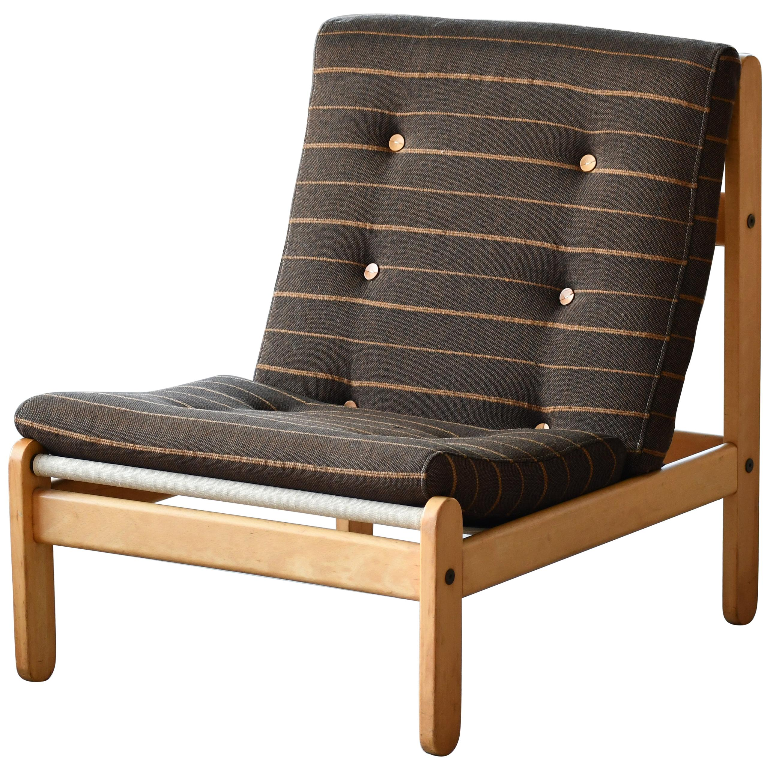 Danish 1960s Rag Chair Variant in Oak by Bernt Petersen for Chiang