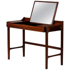 Danish 1960s Rosewood Dressing Table and Stool