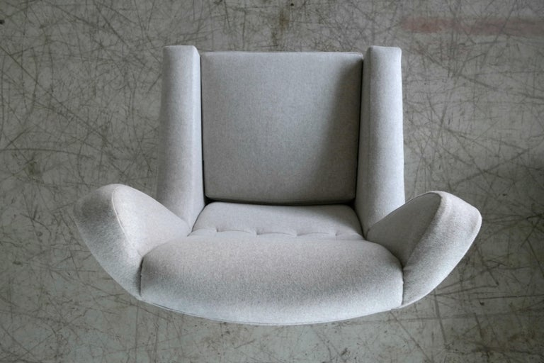 Danish 1960s Space Age Swivel Lounge Chair Attributed to Illum Wikkelso For Sale 3