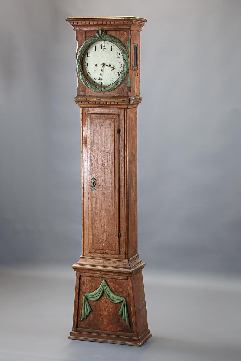 Danish 19th Century Clock In Fair Condition For Sale In Pease pottage, West Sussex