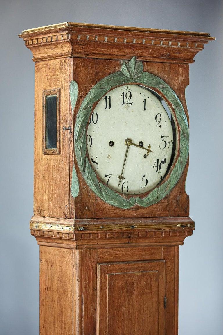 Wood Danish 19th Century Clock For Sale