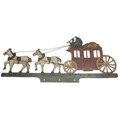 Danish 19th Century Painted Iron Horse Carriage Weathervane