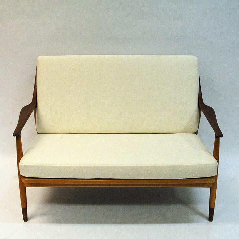 Scandinavian Modern Danish 2-Seated Loveseat Sofa by Kurt Østervig for Jason Møbler, 1950s For Sale