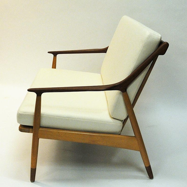 Fabric Danish 2-Seated Loveseat Sofa by Kurt Østervig for Jason Møbler, 1950s For Sale
