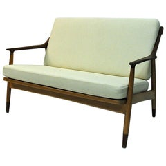 Danish 2-Seated Loveseat Sofa by Kurt Østervig for Jason Møbler, 1950s