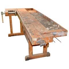 Danish 20th Century Carpenters Workbench