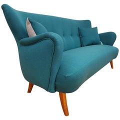 Danish 3-Seat Sofa, Slagelse Møbelfabrik, 1960s, Wool, Completely Restored