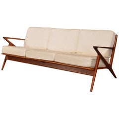 "Danish 3-Seat ""Z"" Sofa by Poul Jensen for Selig"