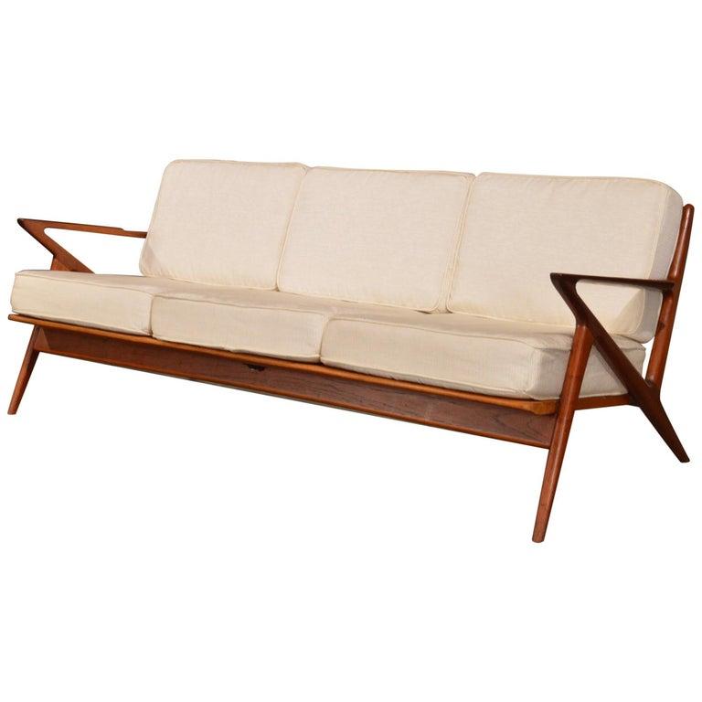 Danish 3 Seat Z Sofa By Poul Jensen