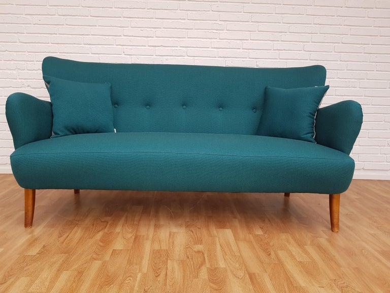 Danish 3-Seat Sofa, Slagelse Møbelfabrik, 1960s, Wool, Completely ...